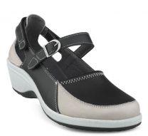 New Feet Damesko Sort med Velcro