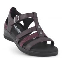 New Feet Sandal Mørk vinrød med hælkappe