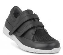 New Feet Sko Sort m/velcro og stretch