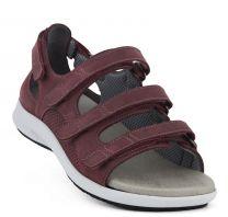 New Feet Bred Sandal med hælkappe Bordeaux
