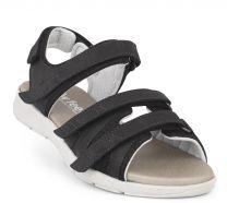 New Feet Damesandal Sort med letvægtssål