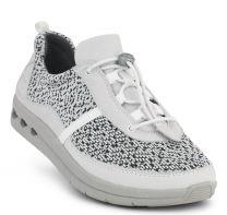 New Feet Hvid Snøresko Tekstil