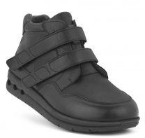 New Feet Damestøvle sort med velcro og stretch