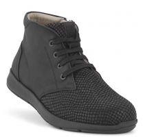 New Feet Damestøvlet Sort med print