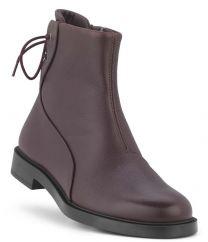 New Feet Damestøvlet Mørk Vinrød