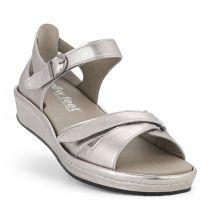 New Feet Damesandal Sølv