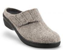 New Feet Hjemmesko Grå Uld Filt