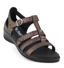 New Feet Bronze Sandal m/hælkappe