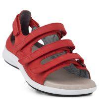 New Feet Bred Sandal med hælkappe Rød