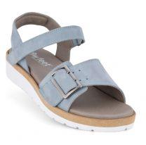 New Feet Let Damesandal Lyseblå