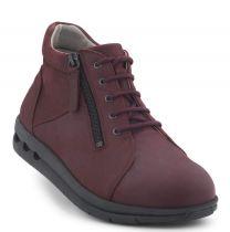 New Feet Damestøvle med Lynlås Bordeaux