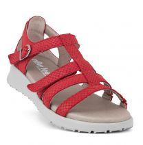 New Feet Let Damesandal Rød
