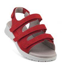 New Feet Let Damesandal Rød med Velcro