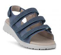New Feet Let Damesandal Blå
