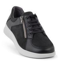 New Feet  Sort Sko m. Stretch