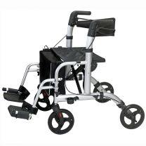 Rollator og Kørestol 2 i 1