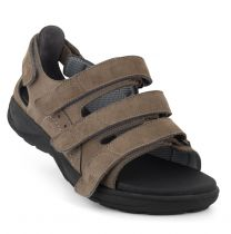 New Feet Sandal Grå Nubuck