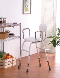 Køkkenstol højdejusterbar m/ryglæn
