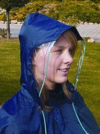 Regnslag blå med vindue