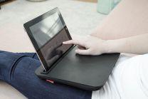 Læsebord med tablet holder sort