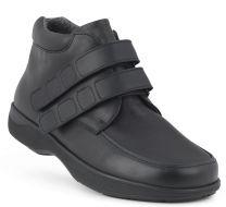 New Feet Bred Herrestøvle sort med velcrolukning
