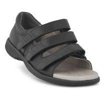 New Feet Damesandal Sort med hælkappe