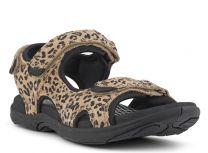 Green Comfort Damesandal Leopard look