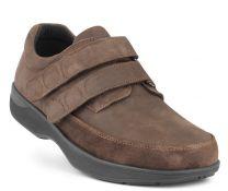 New Feet Bred Herresko Brun med velcro