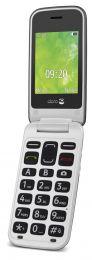 Doro 2414 Stål/hvid mobil
