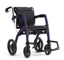 Rollz kombineret Kørestol og Rollator mørk Lilla