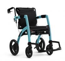 Rollz kombineret Kørestol og Rollator Isblå