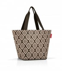 Reisenthel Shopper M Diamonds Mocha